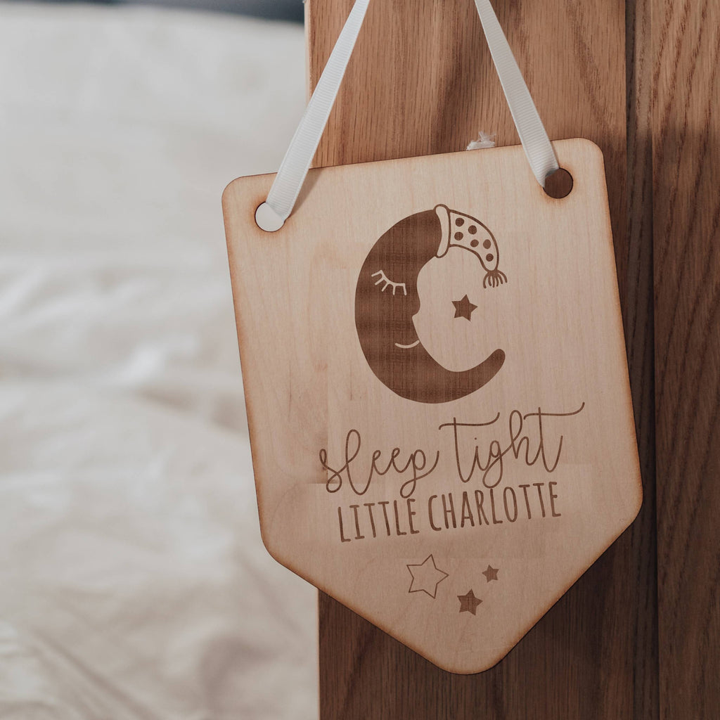 'Sleep Tight Little One' Wooden Baby Memorial Flag