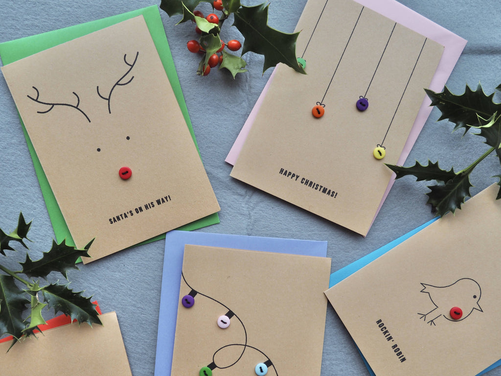 Pack of 6 Handmade Christmas Cards