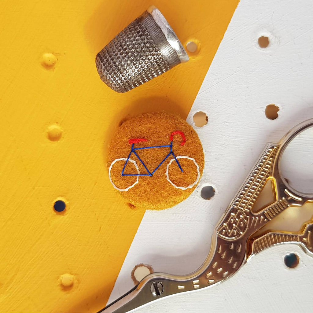 Yellow Bicycle Badge