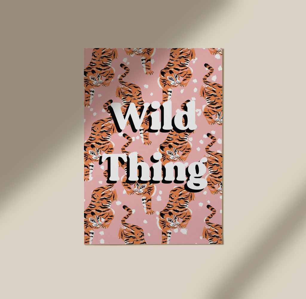 Wild Thing Tiger illustration Art Print