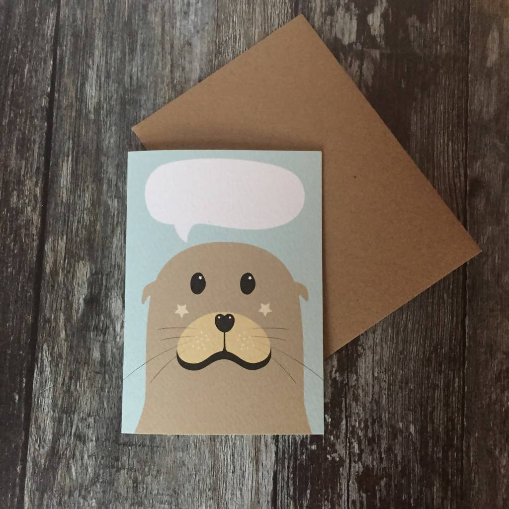 Sea Lion Birthday Card