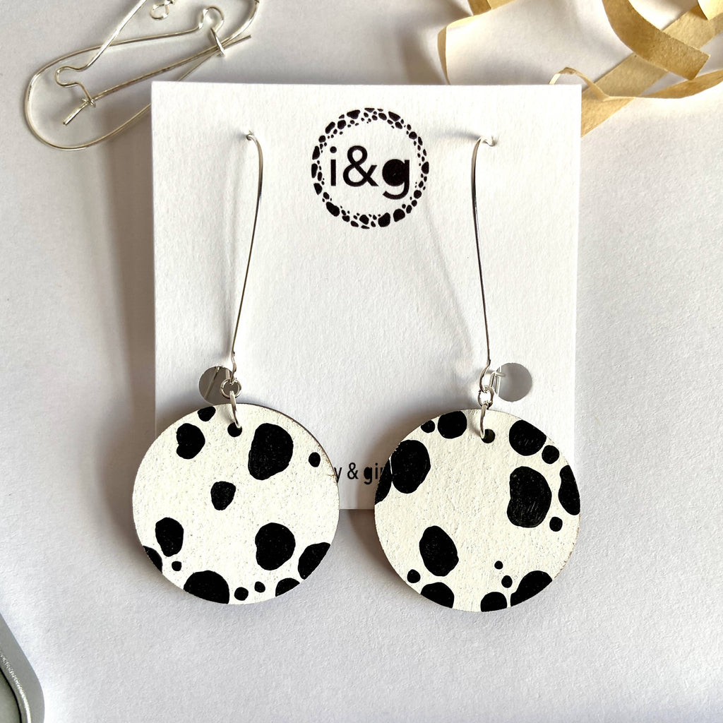 Animal Print Collection Wooden Earrings Gift Set