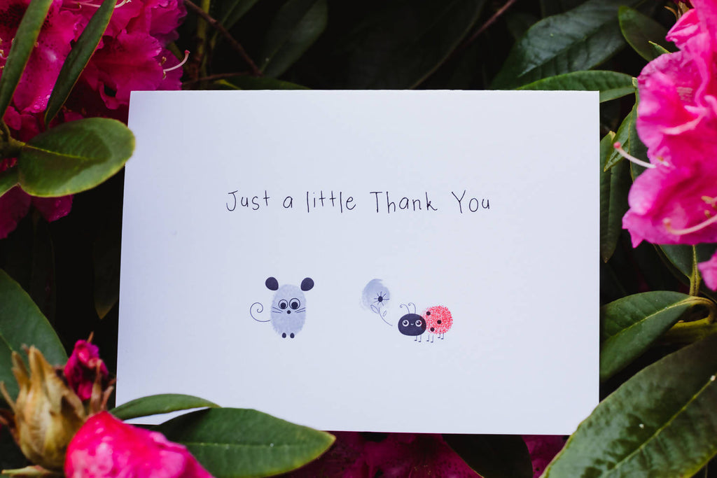Fingerprint Card Kit including Birthday and Thank you cards