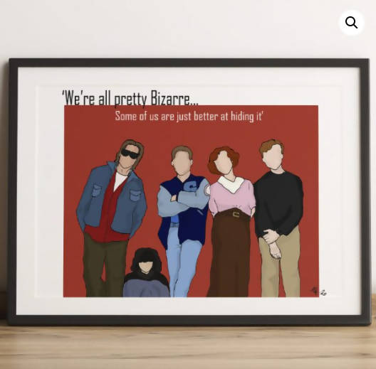 The Breakfast Club Illustrated Print (A4 & A3 Available)