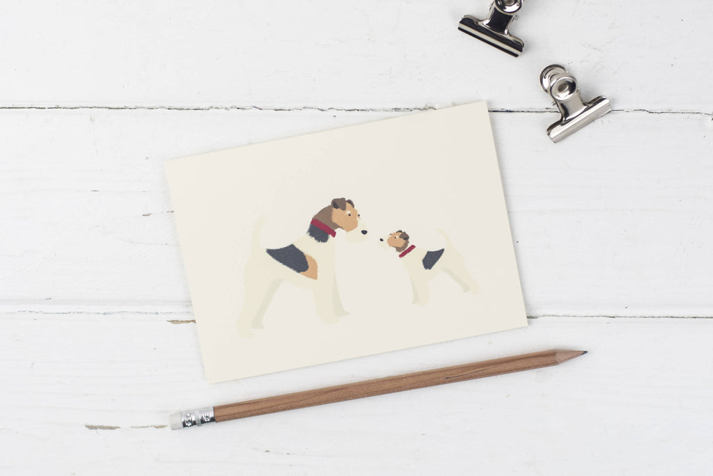 Fox Terrier Father's Day greetings card