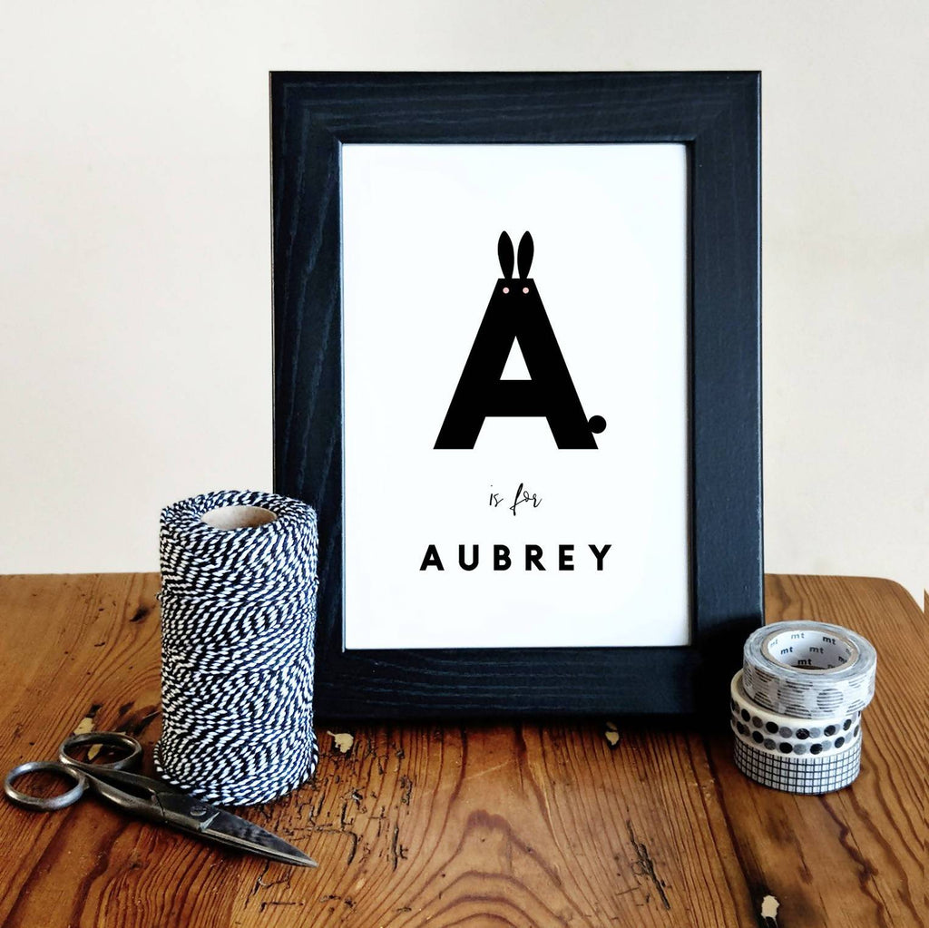Bunny custom name print