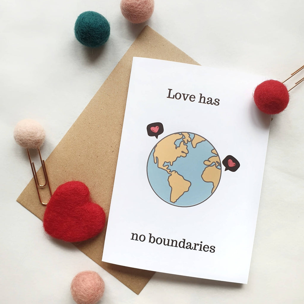 Love has no boundaries - A6 Travel Print Greeting Card