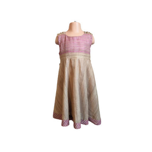Blush Pink Raw Silk 6-7y party dress