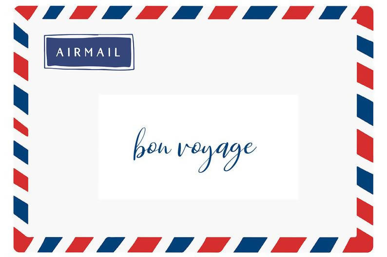 Bon Voyage Card - Recycled - Eco-Friendly
