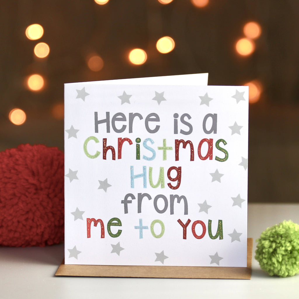 Christmas Hug From Me To You Card