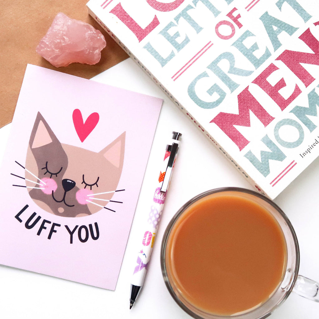 Luff You / Love You A6 Card - The Cute Cats Collection