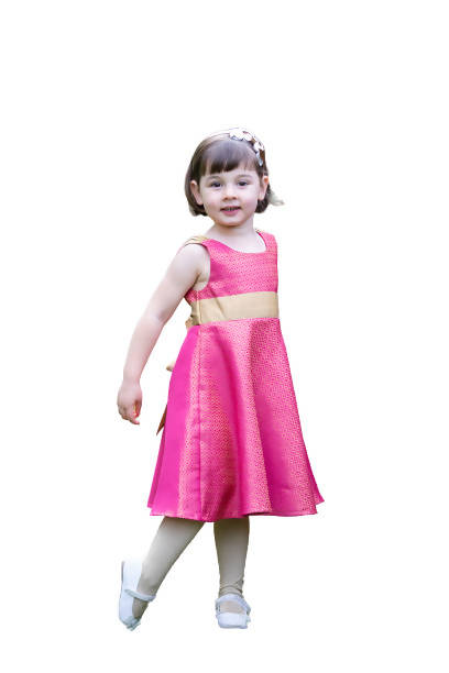 Lavender\Pink\ Gold Circle Girls Dress