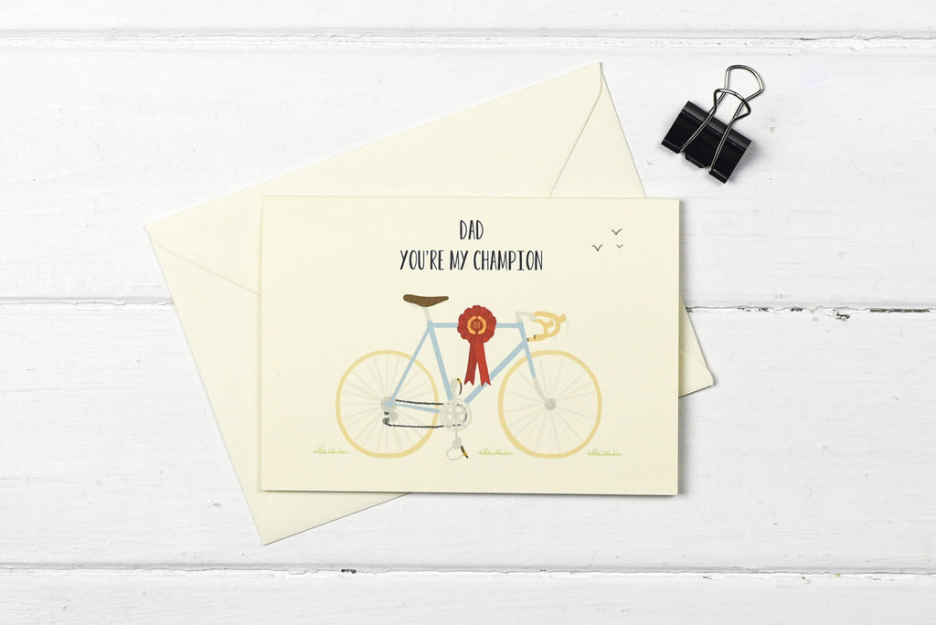 Champion Dad- Racing bicycle Father's day greetings card