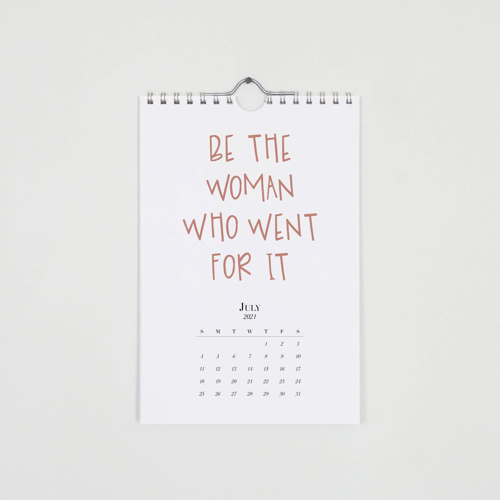 Female Empowerment Quotes, 2021 reference wall calendar