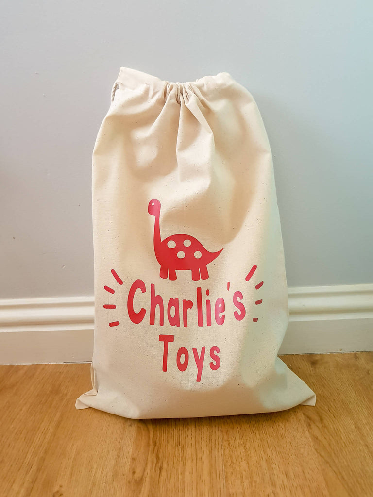 Personalised Dinosaur Toy Storage Bags