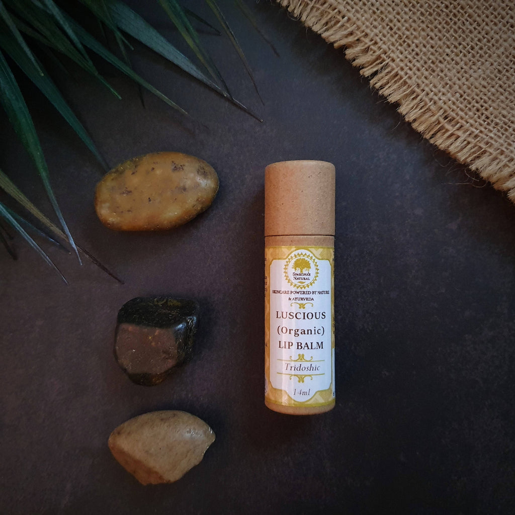 Luscious Lip Balm (For All/Tridoshic Skin) [Organic] 14ml (Cocoa Butter, Coconut and Vanilla)