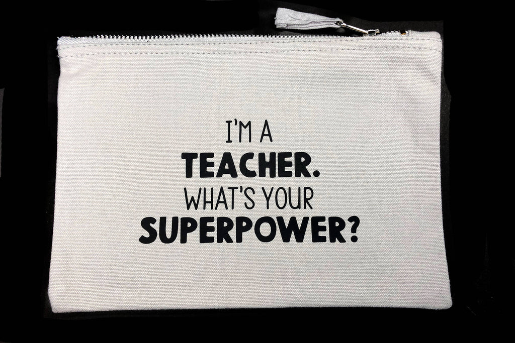 Teacher Superpower Accessory Bag