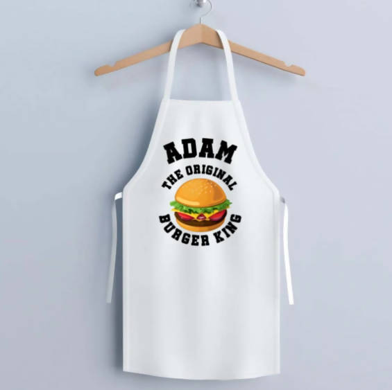 THE ORIGINAL BURGER KING PERSONALISED APRON & HAT - CHILD