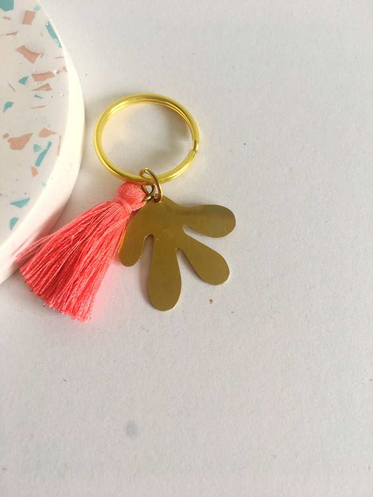 Personalised Coral Key Chain