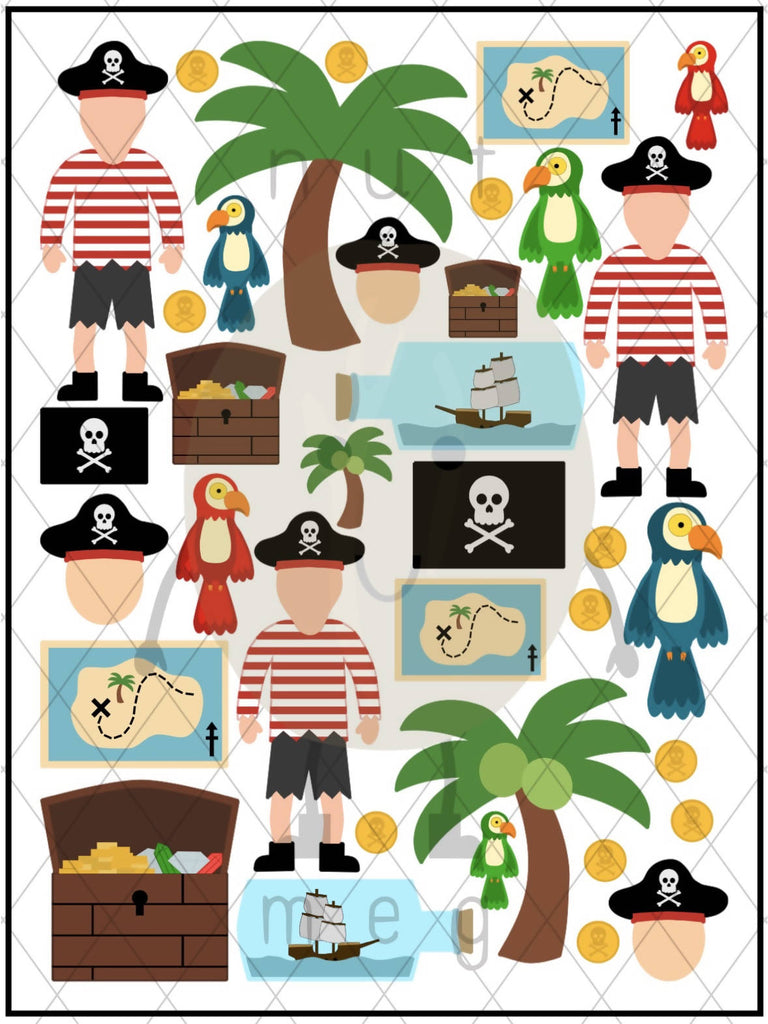 Personalised 'Pirate' Sticker Sheet