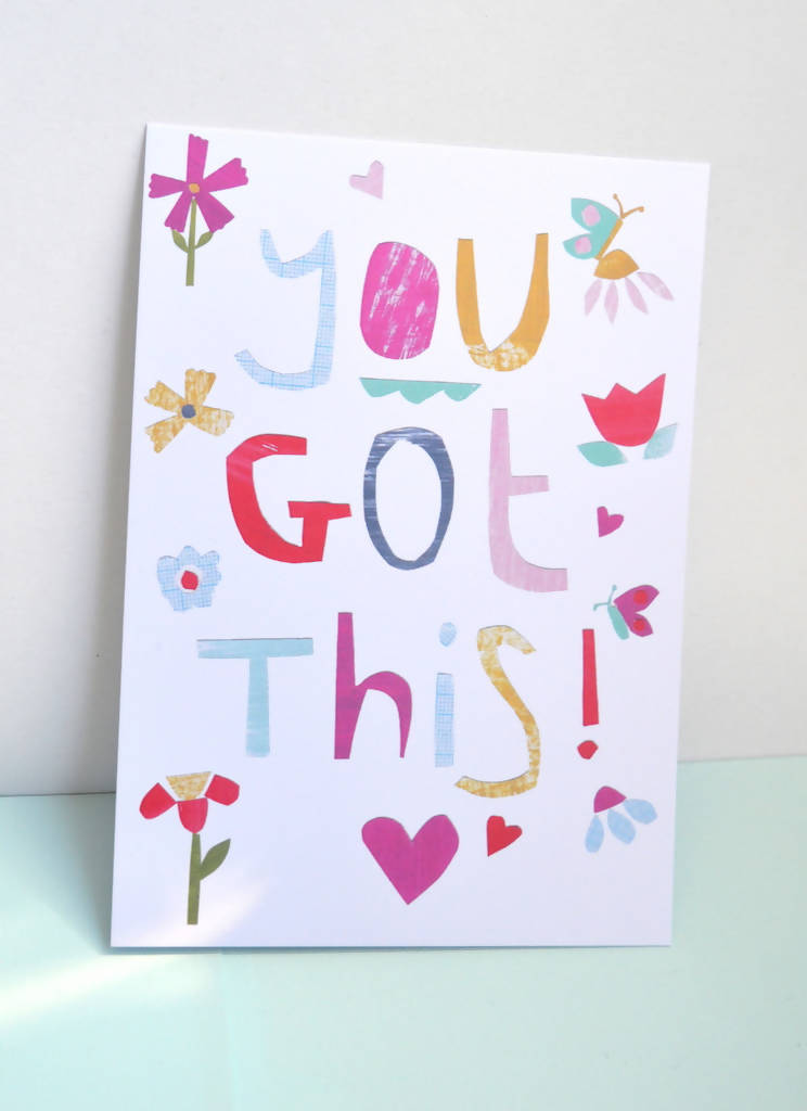 Dolly Pepper Studio, Positive Affirmation Postcard, Quote, You Got This