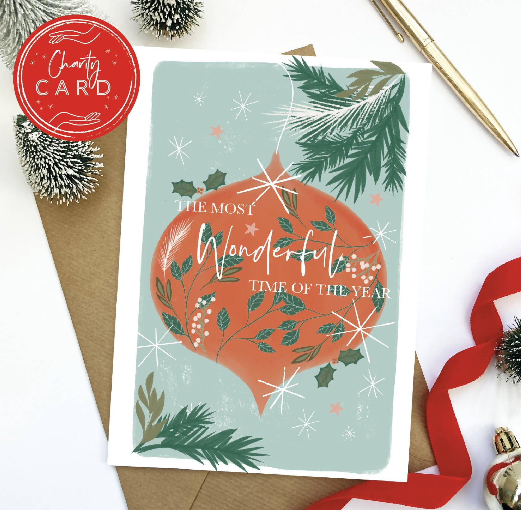 The most Wonderful Time of the Year Christmas Card | Charity Card