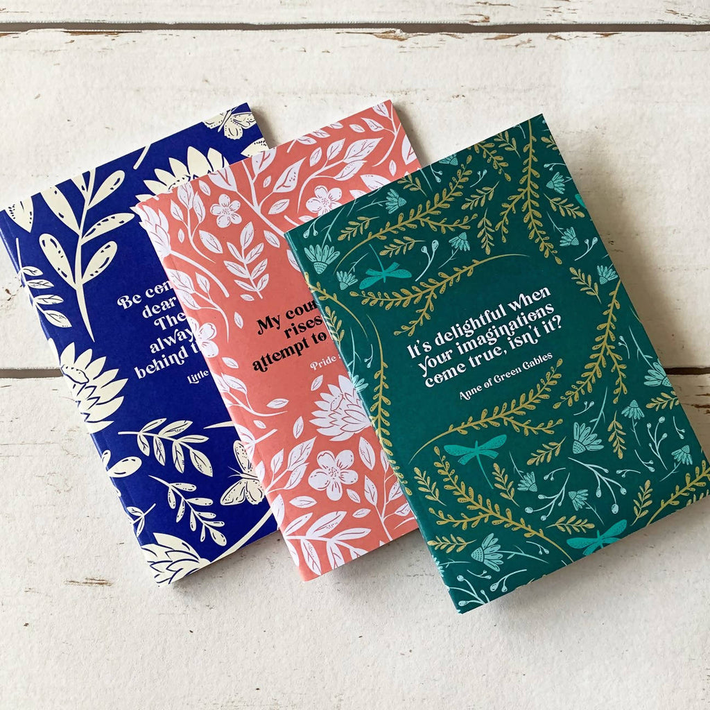 Women of Literature A6 Pocket Notebook Set - Eco-Friendly