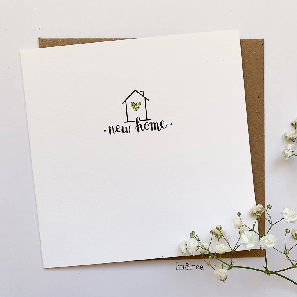 New Home Card With Glitter Detail