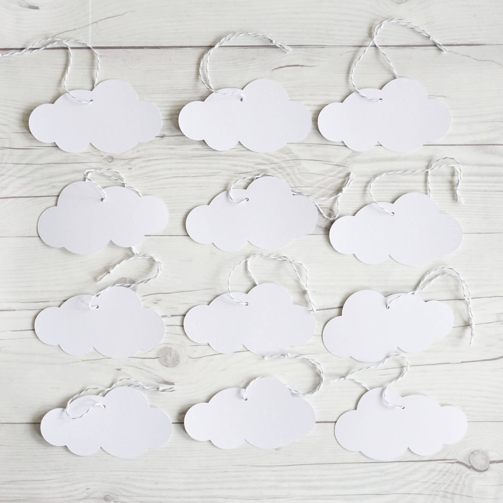 White Cloud Gift Tag