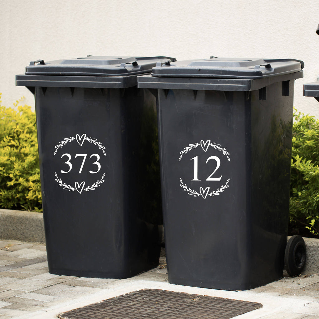 Bin Number Vinyl Sticker Decal
