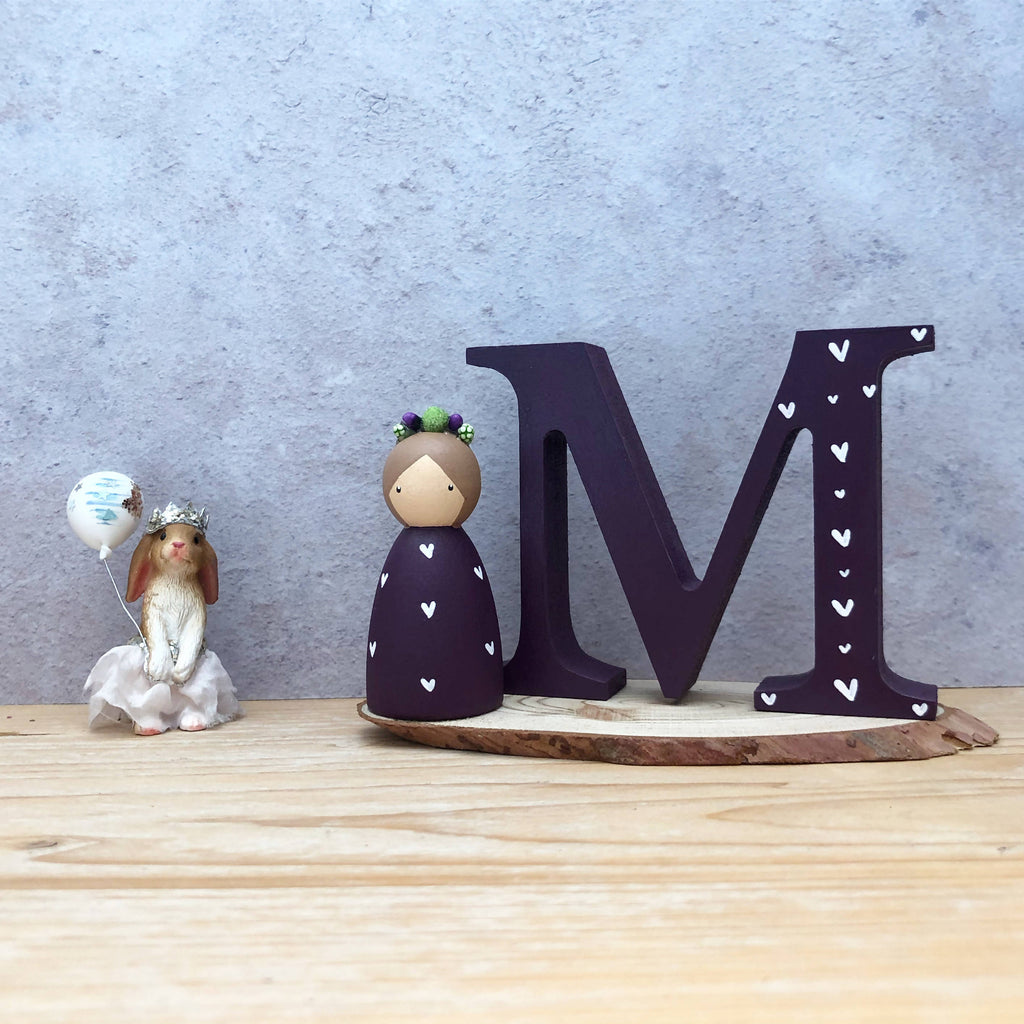 Personalised peg doll and initial set