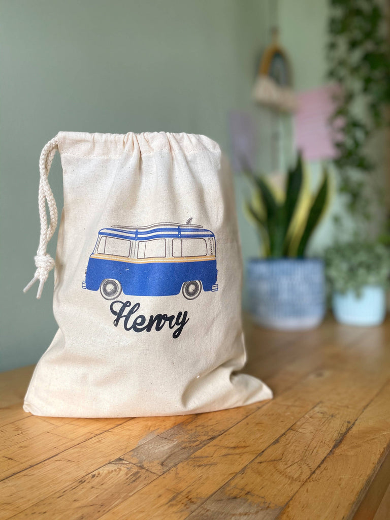 Personalised Camper Drawstring Bag