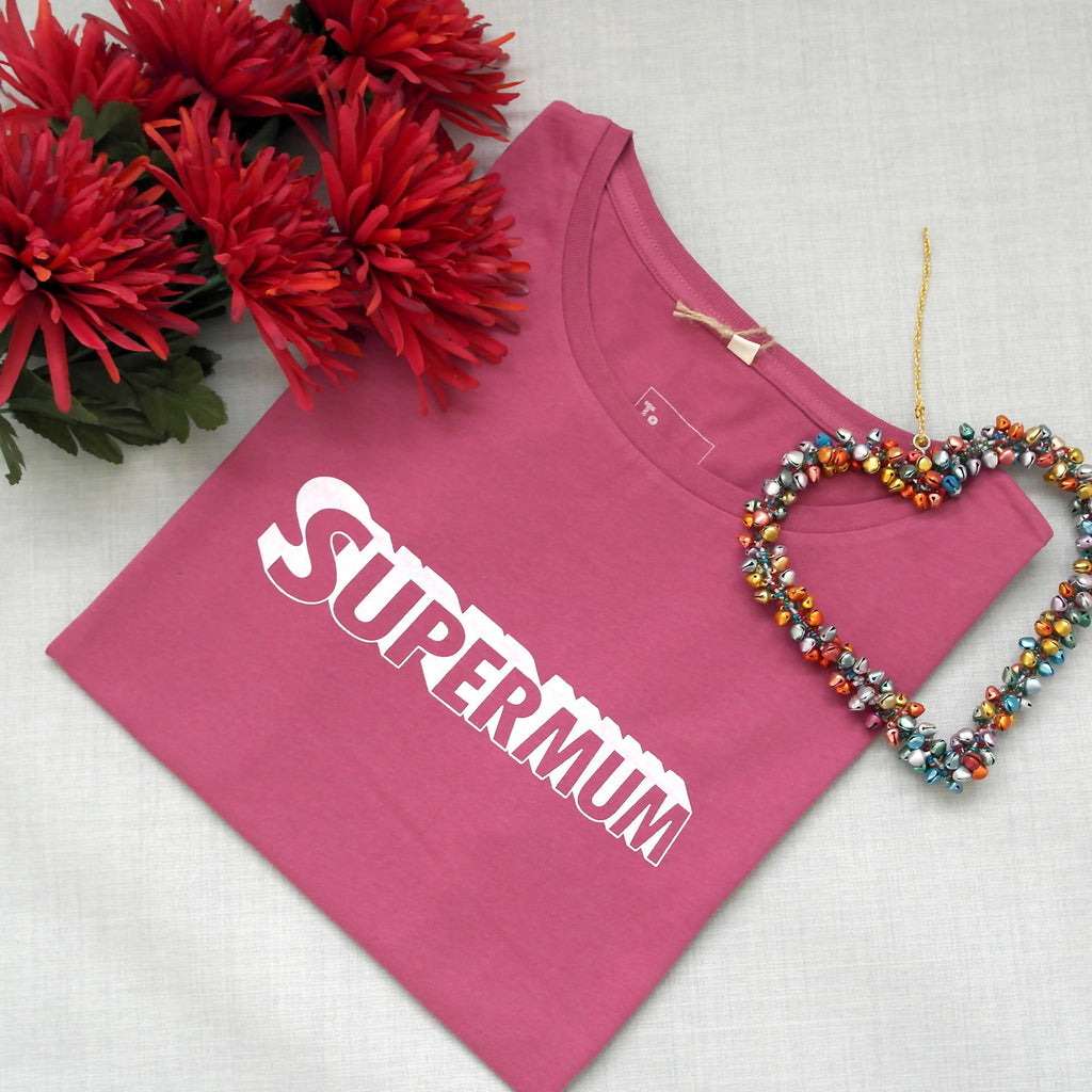 Supermum Organic Cotton Ladies T-shirt - Mum Style Slogan Top