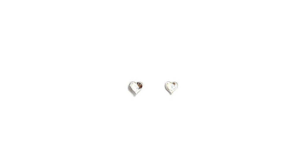 Star or Heart Stud Earrings, Sterling Silver - Design Vaults
