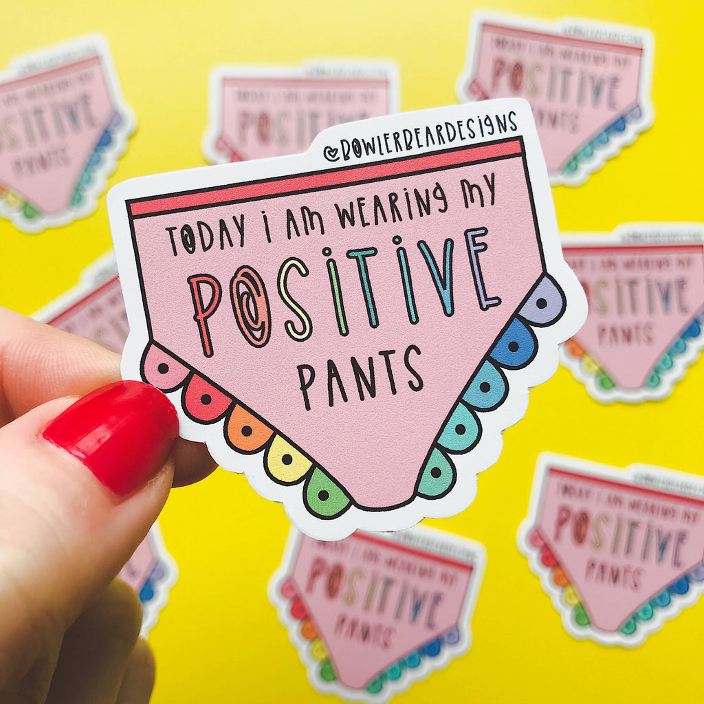 Positive Pants Rainbow Vinyl Sticker