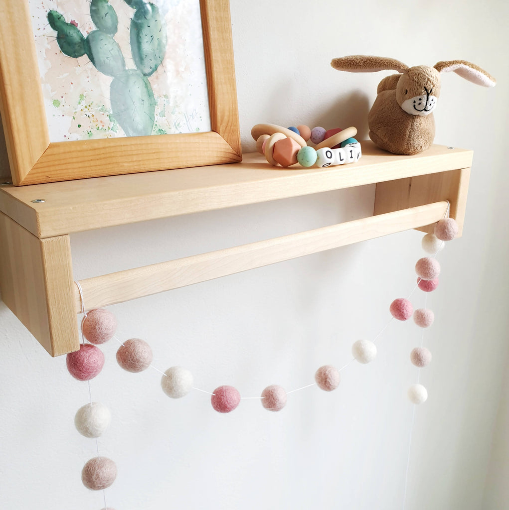 Blush and Rose Pom Pom Garland