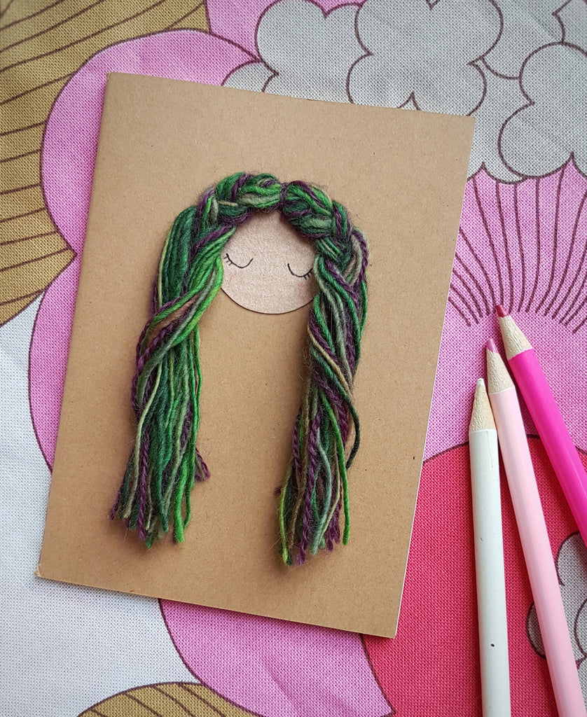 Sweet Doll Notebook with Tactile Hair