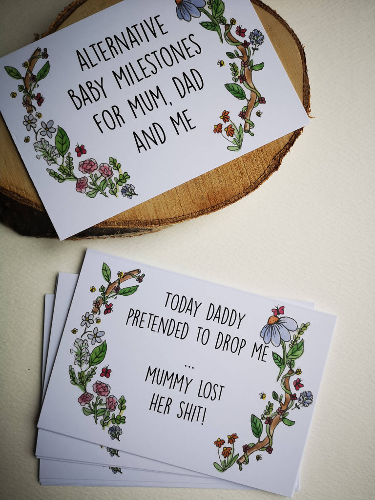 Alternative Baby Milestone Cards