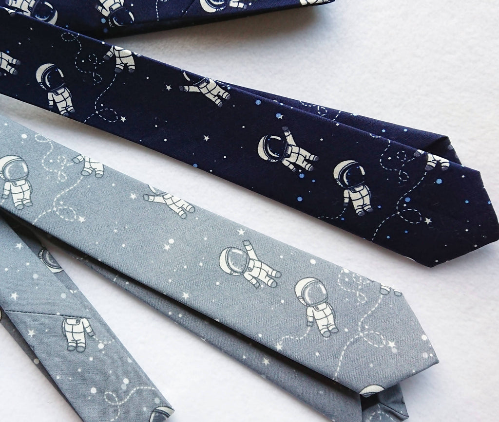 Boys space theme tie