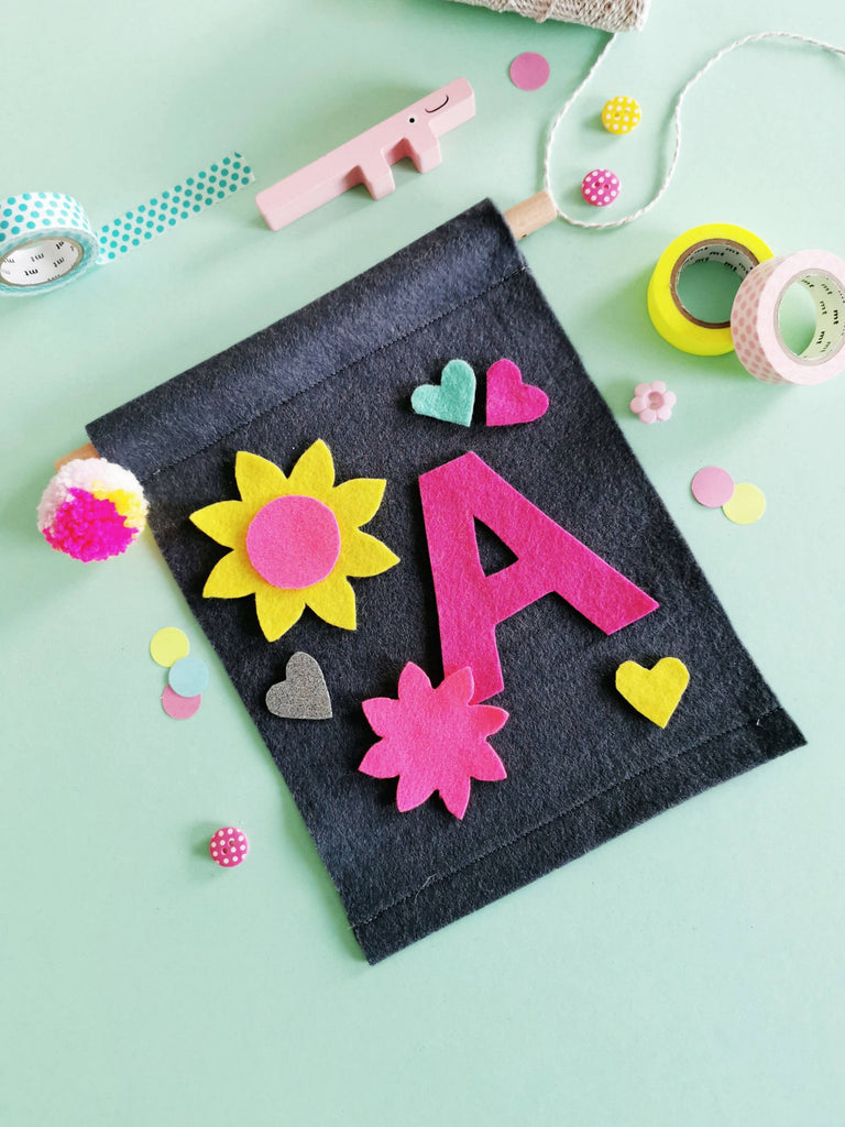 Initial Banner Craft Kit Neon Pop