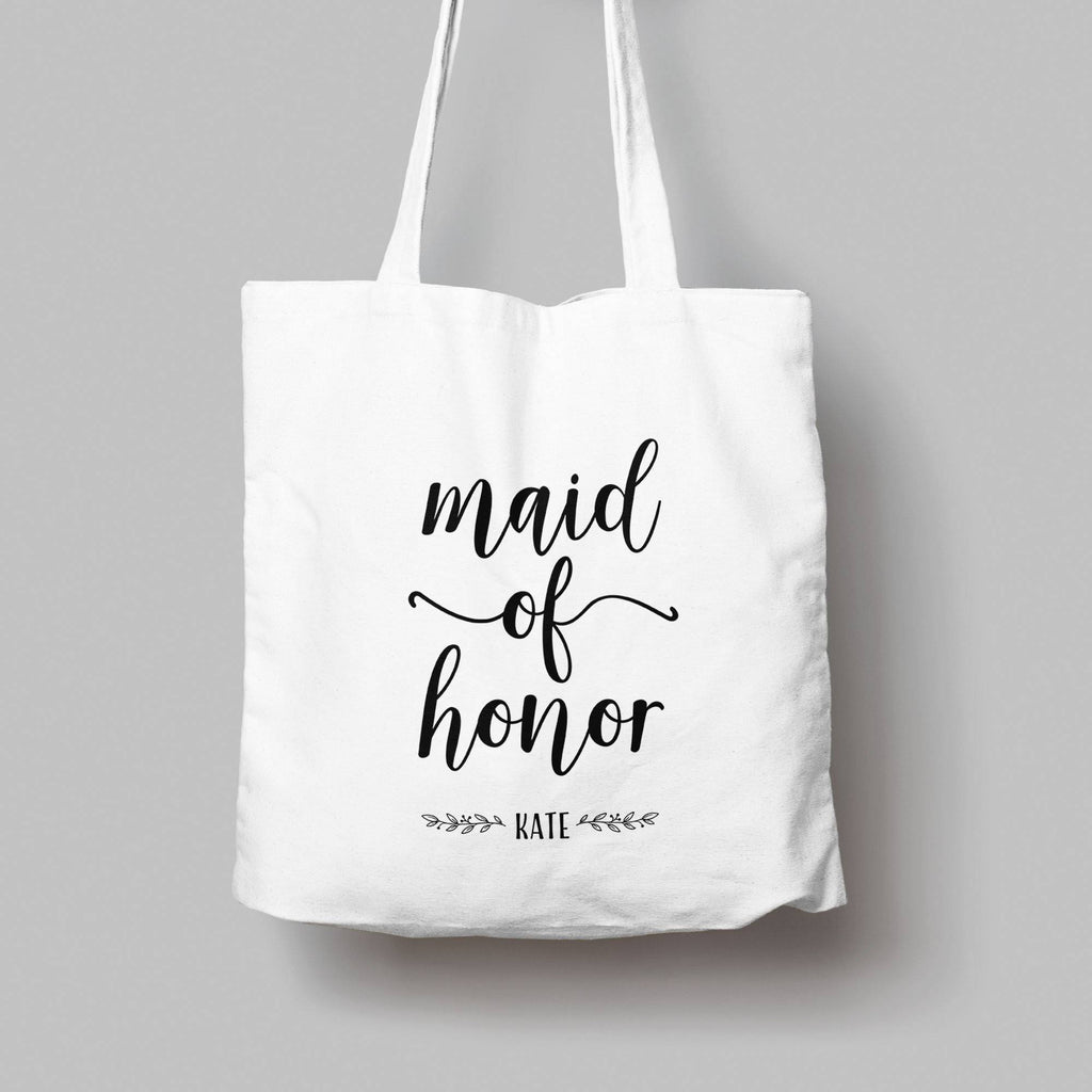 Personalised Maid of Honour Cotton Tote Bag