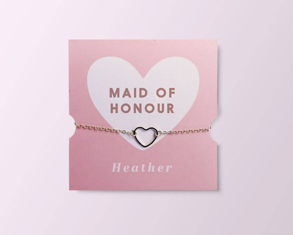 Personalised Bridesmaid/Maid of Honour Bracelet Gift Card // Friend // Card // Jewellery // Wedding Card // Bridal Proposal