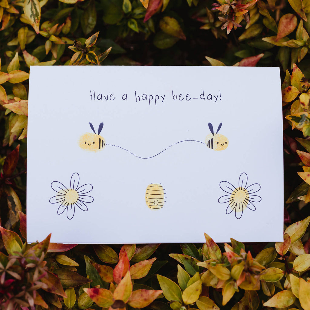 Have a Happy Bee-Day! Fingerprint Card Kit