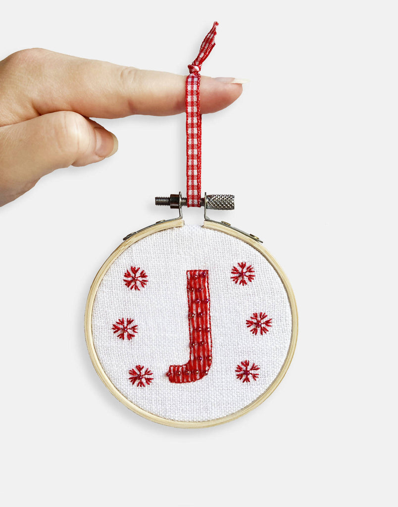 Christmas Embroidery Kit - Letter Hanging Decoration