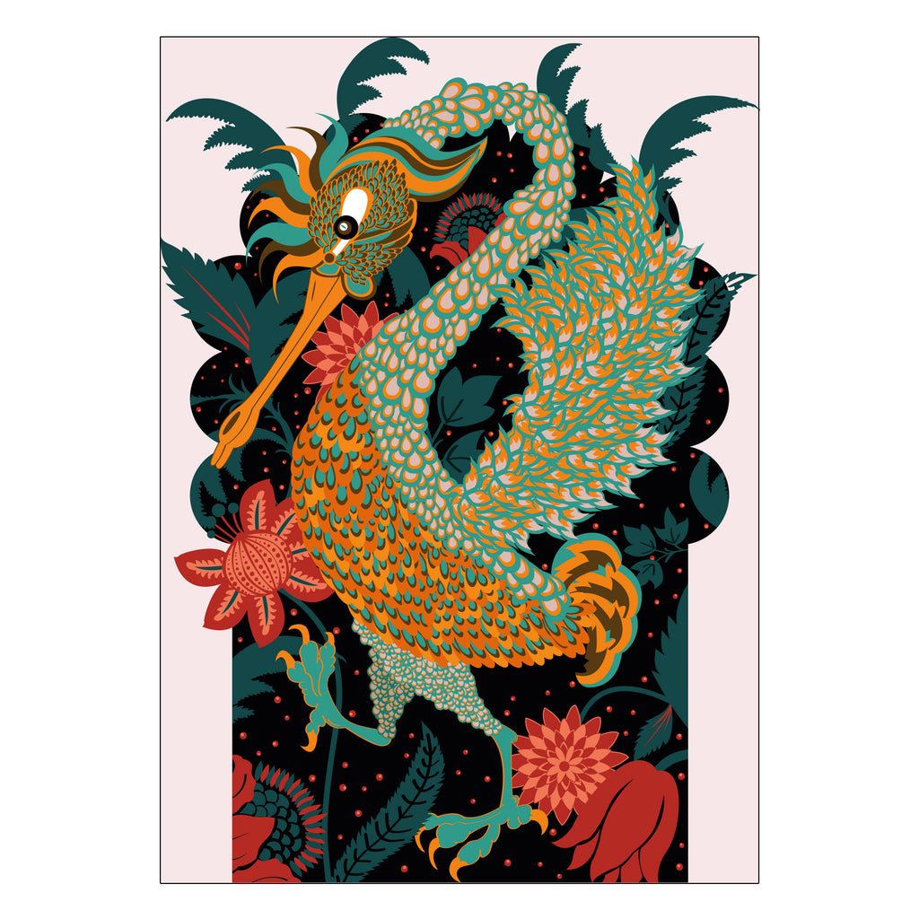 Fantastical Bird Art Print
