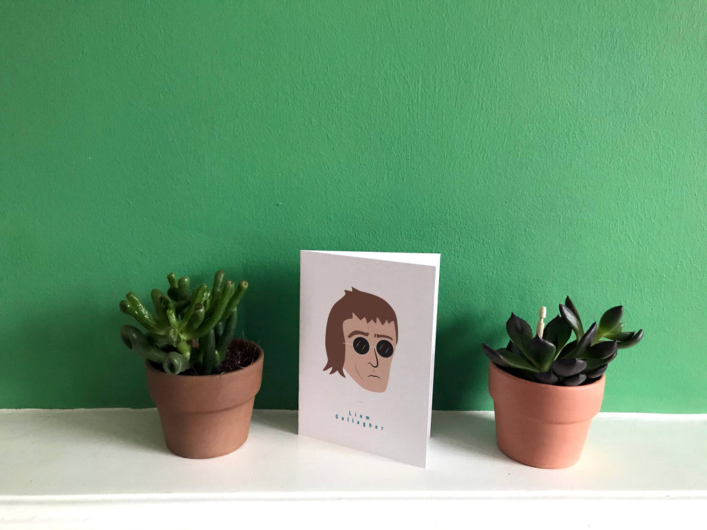 Liam Gallagher Greeting card A6 Blank Oasis Wonderwall