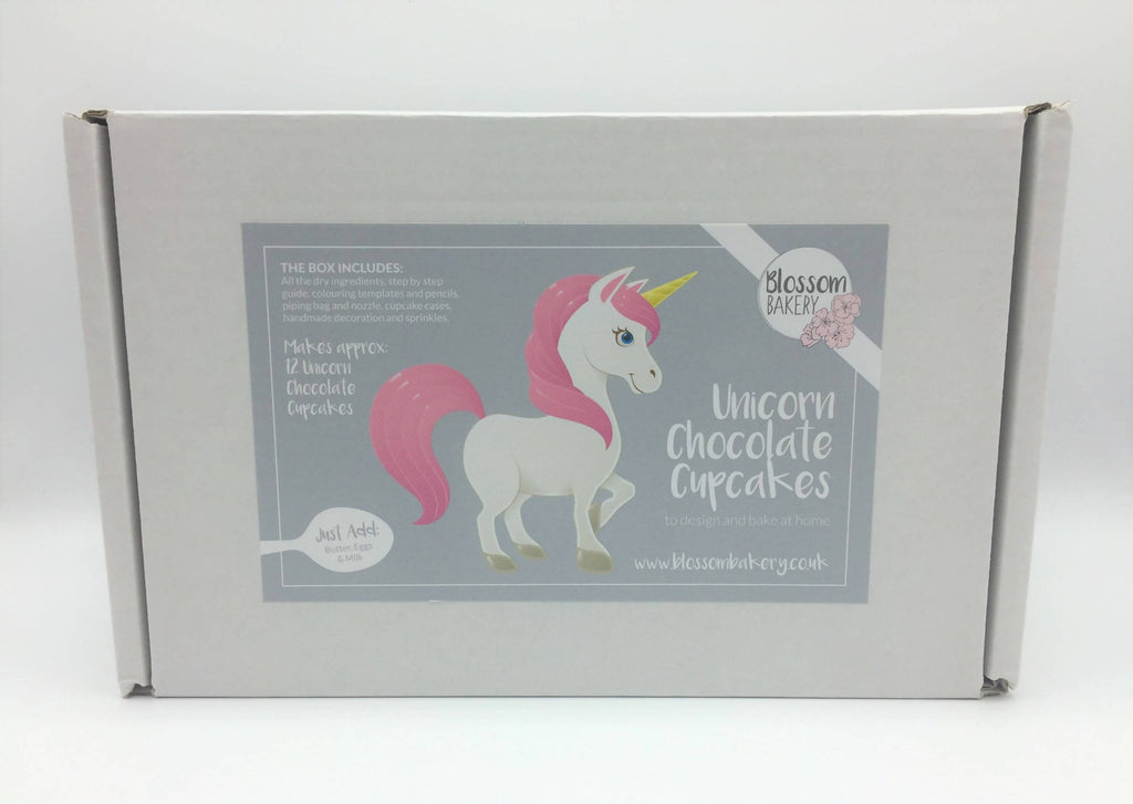 Unicorn Chocolate Cupcakes Bake at Home Box