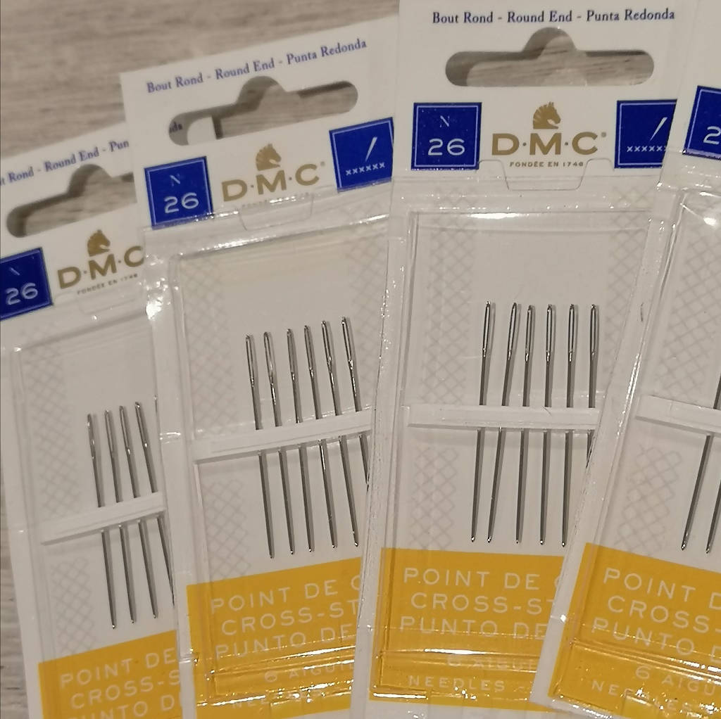 6 Pack of DMC Needles size 26