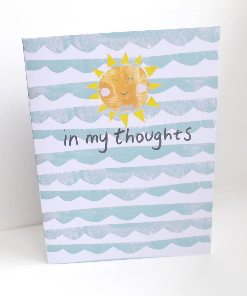 Dolly Pepper Studio, A5 Greeting cards, in my thoughts, get well soon card