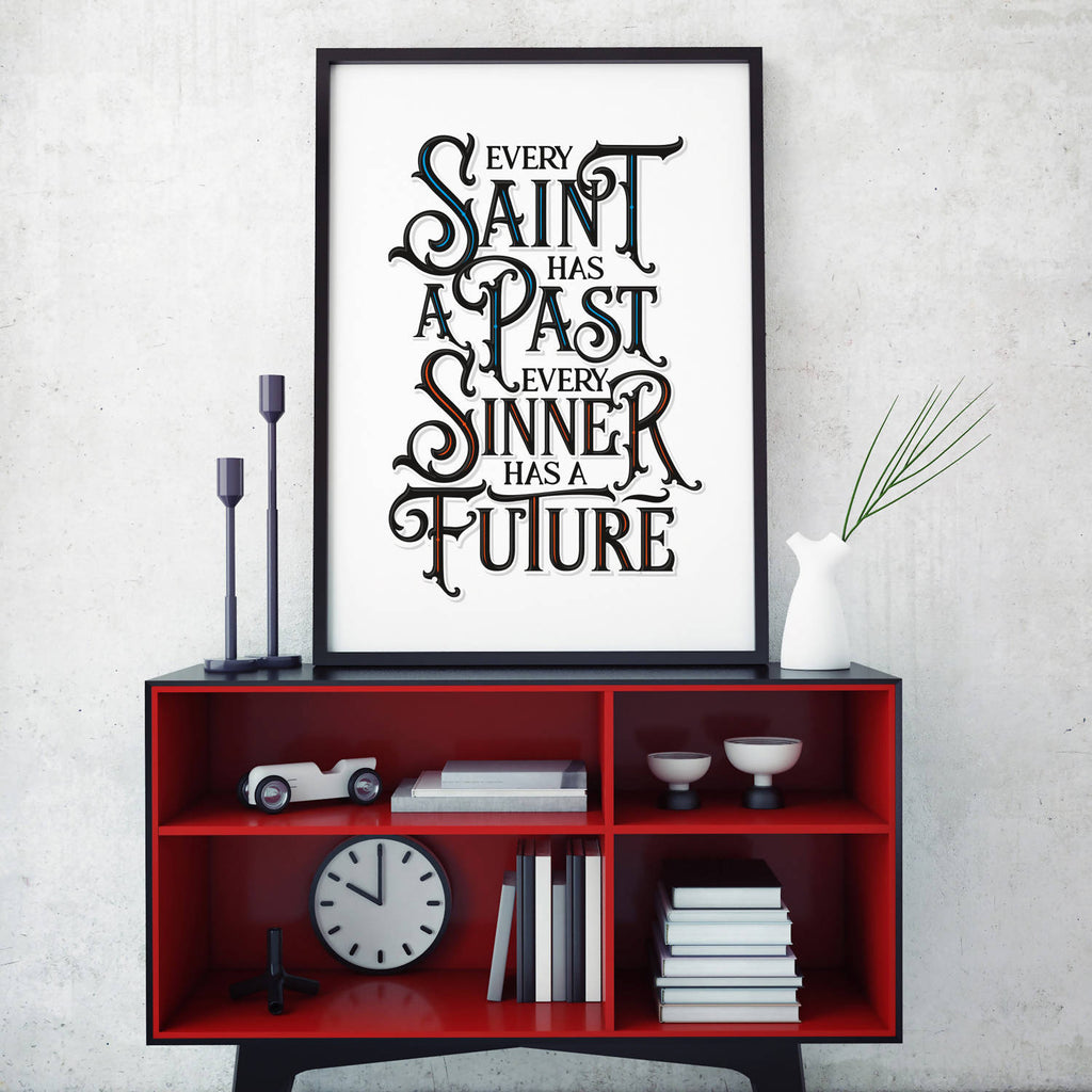 Saint And Sinner Print (UNFRAMED)